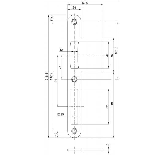 incl Montagematerial GU Pilzkopf Schlie/ßblech Schliessplatte 9-36098 Gr.25 oder auch 9.36098 25 6511 6-27831-25-0-1